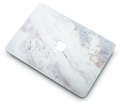 "KECC Laptop Case for MacBook Air 13"" w/Keyboard Cover Plastic Hard Shell Case A1466/A1369 2 in 1 Bundle (White Marble 2)"