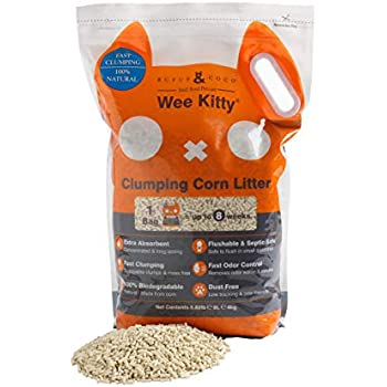 Rufus & Coco Wee Kitty Clumping Corn Cat Litter, (1 Pack x 8.8 lb)