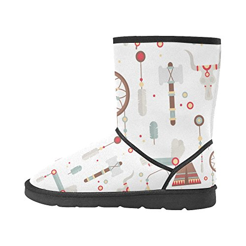 Boots Snow Flowers Womens Color12 Size Pattern 5 Classic InterestPrint Colorfuler On 12 Print Boots Snow 5 1qEwv5xn