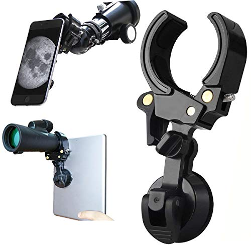 Universal Cell Phone Quick Photography Adapter Mount Holder Clip Bracket for Microscope Binocular Monocular Spotting Scope Telescope Accessories Work with iPad Smartphone Support Eyepiece 27 to 53mm from Apabob