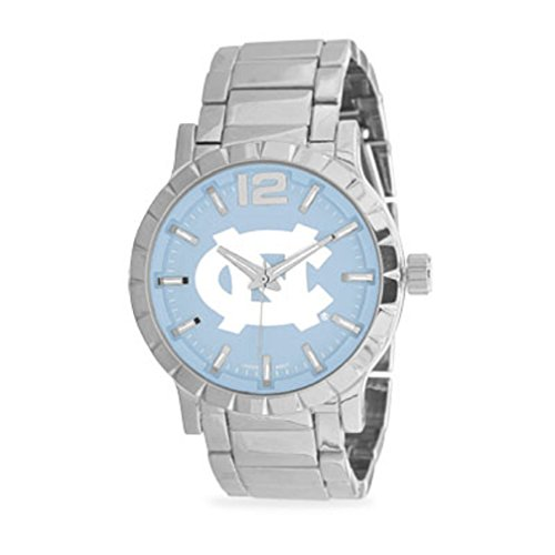 2017 North Carolina Tar Heels, Logo Men's Silver College-NCAA, Football-Basketball sport Watch ca12456 (Nc State Wolfpack Puzzle)
