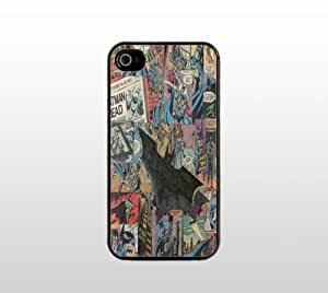 Batman Comic Design iPhone 5 5s Case - Hard Plastic Snap-On Custom Cover - Black - Superhero