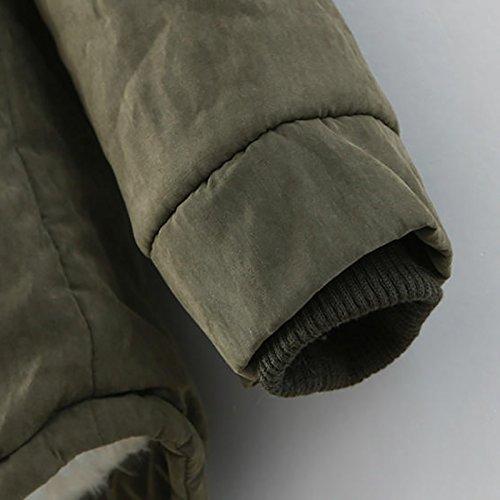 Capuche Unicolore Haute De paissir Hiver Outerwear Long Qualit A Mode Loisir Elgante Confortables Parker Coat Chaud Grn Parka Gaine Manches paissir Chic Femme RZWH8W