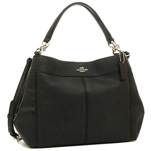 Coach Women's Pebble Leather Small Lexy Shoulder Bag No Size (Im/Black) (Coach Duffle Shoulder Bag In Glovetanned Leather)