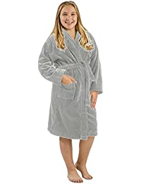 Kids Terry Bathrobe Robe, Cotton Hooded Robes For Boy and Girl