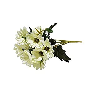 Himpokejg 10 Heads/5 Branches Artificial Daisy Flower Office Home Decoration 1 Bouquet - 32