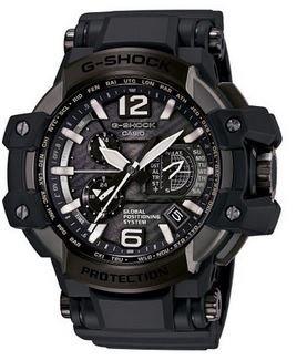 (Casio G-Shock Gravity Master Black Dial Multi Solar Watch GPW1000T-1A)