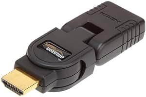 AmazonBasics - Adaptador HDMI articulado (hembra y macho), color negro