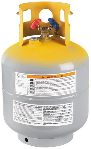 Mastercool (63010) Gray/Yellow Refrigerant Recovery Tank - 50 - Refrigerant Gas Cylinder