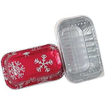 Amazon Com Durable Packaging Holiday Aluminum Mini Loaf
