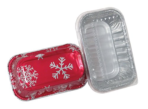 Durable Packaging Holiday Aluminum Mini Loaf Pan with Plastic Dome Lid (Pack of 100 Pans with Dome Lids) by Durable Packaging (Image #2)