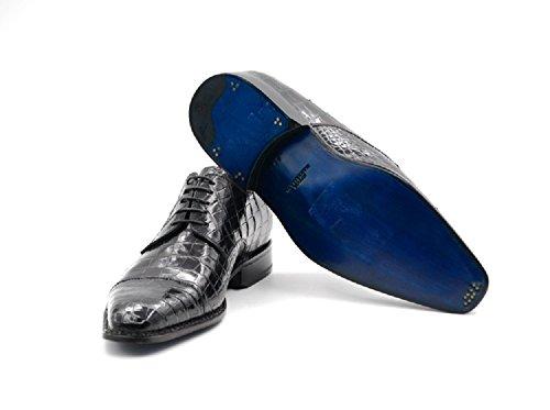 Scarpe Stringate Sutor Mantellassi In Pelle Di Coccodrillo Blu / Nera (42 Eu)