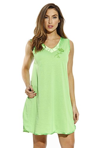 1530-LIM-2X Dreamcrest Nightgown/Women Sleepwear/Sleep Dress Lime