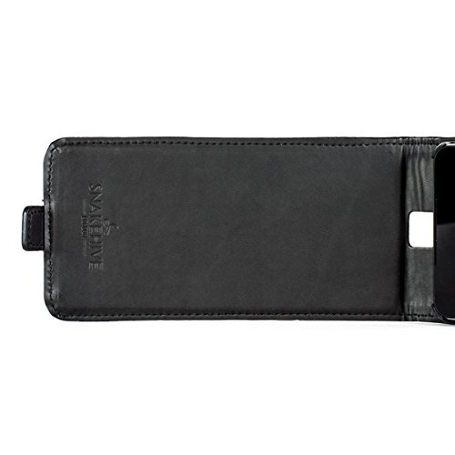 Snakehive® Microsoft Lumia 650 Cuero Laminado Funda volteable para Microsoft Lumia 650 (Color Negro) Color Negro