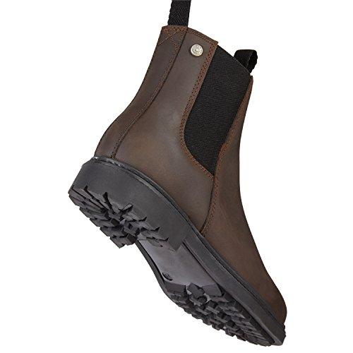 Chelsea Boot »NEW WORK WINTER« bequeme Stiefelette aus Rindsleder Made in Portugal | Reitschuh mit robuster Gummisohle und Innenleder | Schuh Schlupf Stiefel in Größen 35-46 | Schwarz,Braun & Cognac cholocate