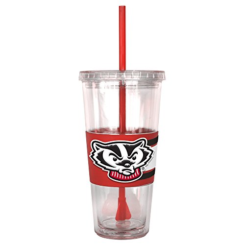 NCAA Wisconsin Badgers Hype Straw Tumbler, 22-ounce