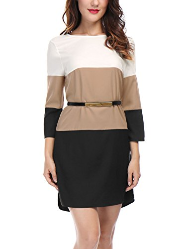 Colour Block Shift Dress - 7