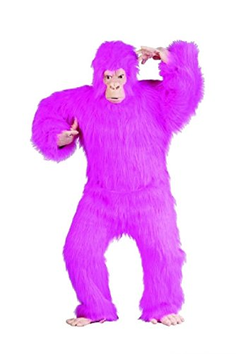 [OvedcRay Gorilla Ape Adult Mens Costume Chimpanzee Monkey Animal Mascot Black Blue Red] (Blue Bull Mascot Costume)