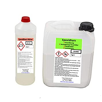 1 5 Kg 2 K Resine Epoxy Incolore Revetement De Sol Pour Env 15qm