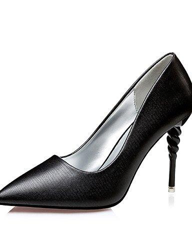 GGX/ Damen-Cloggs & Pantoletten-Kleid-Kunstleder-Stöckelabsatz-Absätze / Spitzschuh / Geschlossene Zehe-Schwarz / Braun / Champagner brown-us6 / eu36 / uk4 / cn36