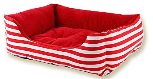 Red SUiophjkl Safe and comfort Sabrina Julias Pet Dog Pet Cat Bed for Spring and Summer Suitable for dogs and cats (color   bluee, Size   L)