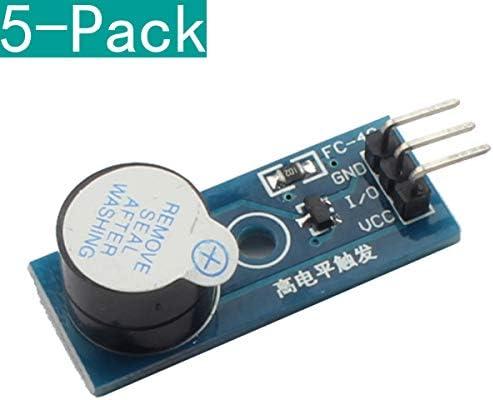 Youmile 5 Pack DC 3.3-5V Módulo de Sonido de Alarma de zumbador de ...