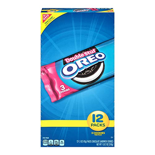 Oreo Double Stuf Full-Size Chocolate Sandwich Cookies, 12 Count Individual Snack Packs -