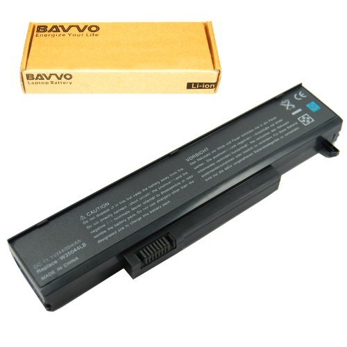 Bavvo Battery Compatible with Gateway 3UR18650-2-T0037 3UR18650F-2-ARM squ-715 squ-716 squ-719 squ-720 w35044lb w35044lb-sp w35044lb-sy w35052lb w35052lb-sy w35078ld w35078ld-sp, Black