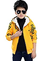 Mallimoda Boys Fleece Hoodie Zip Up Sherpa Lined Jacket Sweatshirt