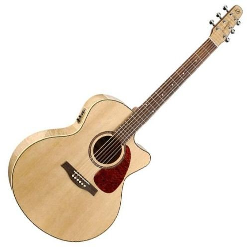 Seagull Performer Cutaway Mini Jumbo Flame Maple QI Acoustic-Electric Guitar - Gull Cutaway Sea Guitar