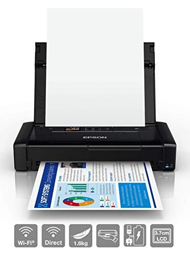 Epson Workforce WF-110W – Impresora de inyección de Tinta portátil (DIN A4, impresión móvil, WiFi, WiFi Direct, USB…