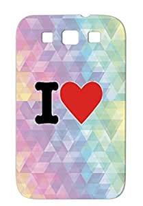TPU Tearproof Symbols Shapes Red I Heart For Sumsang Galaxy S3 Protective Hard Case