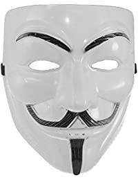 Mens Guy Fawkes V For Vendetta Mask One Size Fits Most White