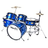 Mendini 5 Drum Set Blue 16-inch MJDS-5-BL