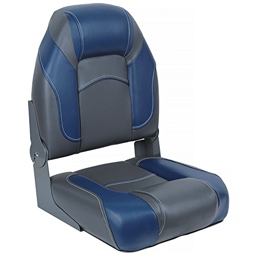 Angler Boat - DeckMate Pro Angler Boat Seats (Charcoal & Blue)