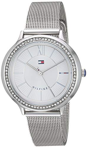 Tommy Hilfiger Women's Candice Quartz Watch with Stainless-Steel Strap, Silver, 14.1 (Model: 1781862