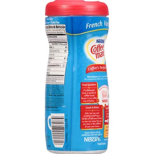 Nestle Coffee-mate Coffee Creamer, French Vanilla, 15oz powder creamer - Pack of 24 by Nestle Coffee Mate (Image #2)