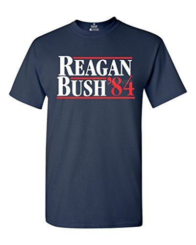 Shop4Ever Reagan Bush 84 T-shirt Presidential Campaign Shirts Medium Navy 0]()