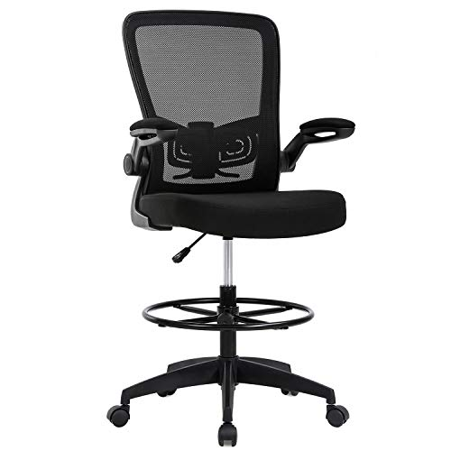 Drafting Chair Tall Office Chair Adjustable Height with Lumbar Support