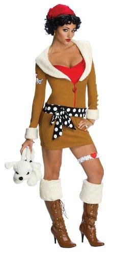 [Secret Wishes  Womens Betty Boop Aviator Costume, Black, Large] (Black Betty Boop Costume)