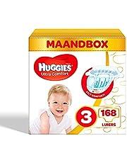 Huggies luiers maat 3 (4-9kg), Ultra Comfort, baby voordeelverpakking, 168 stuks
