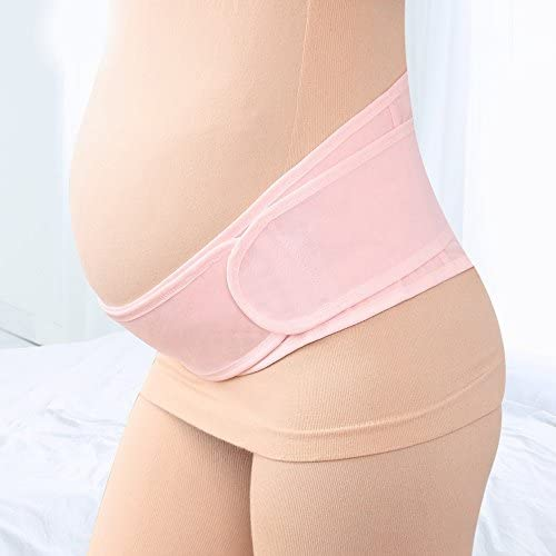 Lower Back Pain| Postpartum Recovery by Sagton Waist Abdomen Belly Band for Running /& Exercising Maternity Belt Pregnancy Support Pink Abdominal Pain