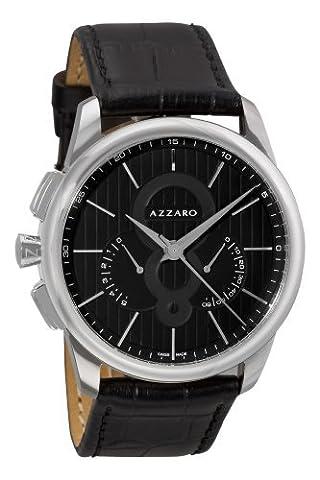 Azzaro Men's AZ2060.13BB.000 Legand Chronograph Black Dial and Strap Watch (Azzaro Men Quartz)