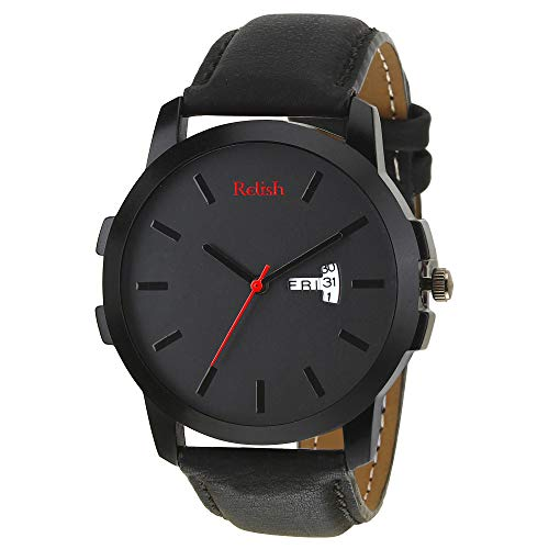 Relish Day and Date Wrist Watch for Boys and Mens