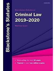 Blackstone's Statutes on Criminal Law 2019-2020 (Blackstone's Statute Series)