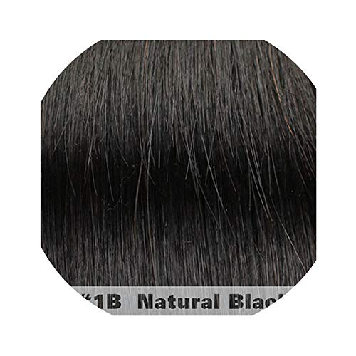 HANBINGPO Brazilian Hair Body Wave 4 Bundles With Closure Middle/Free/Three part 5 hair pieces non Remy Human Hair Weaves,8 8 10 10 & closure8,#1B,Three Part]()