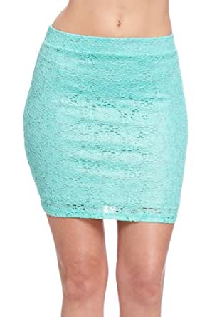 2B Metallic Lace Crochet Skirt 2b Skirts Seafoam-xl