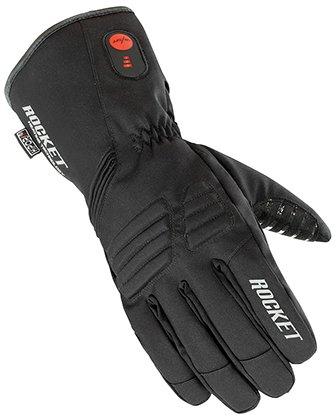 Joe Rocket Men's Rocker Burner Textile Heated Black Gloves 1522-2004