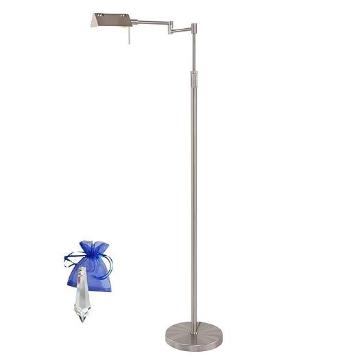 Lámpara de pie acero inoxidable con regulador mexlite ...