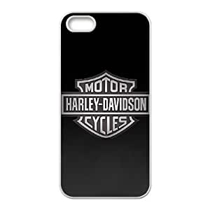 iPhone 5 5s Cell Phone Case White Harley Davidson 002 Basic Cell Phone Carrying Cases LV_6117722